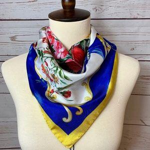 NWT $245 DOLCE & GABBANA Floral Square Silk Scarf
